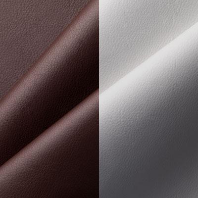 Экокожа коричневая с белым